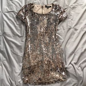 Forever 21 Glittery Gold Dress